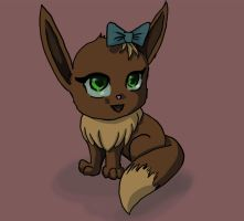 Here Have an Eevee by AwesomePonyTail