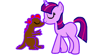 Starlight and Steven-Spike kissing by FireFly1800