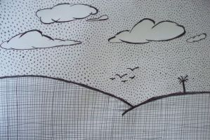 Plaid Hills and Polka Dot Sky by SonicXfan007
