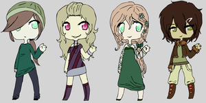 Pallette Girl Adopts by XxHowlingAdoptsxX