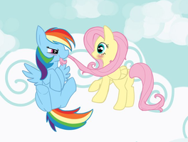 Rainbow Dash and Fluttershy by cappydarn