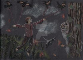 Autum Spririt, Fly Away... / For Art Contest by Moondancer3