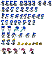 2013 Aqua the Cat sprites by Hyper-sonicX