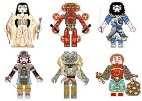Japanese Mythology Minimates by Chazwinski