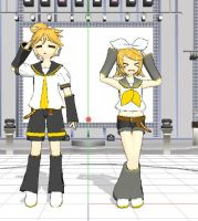 Len and Rin Kagamine MMD by TDiRockLove