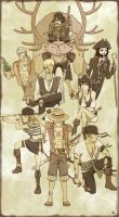 The Strawhat Pirates by FieryStampede