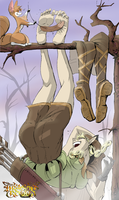 Dragon's Crown Elf Tickled Still by PawFeather