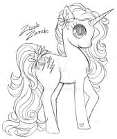 Zizzle Zazzle Pony Commish Sketch by YamPuff