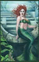 Green Mermaid by Lead-C-Art