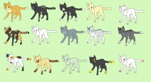 15 CHEAP Cat Adoptables by nednilclan
