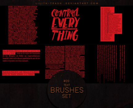 Text Brushes #4 by Lilith-Trash