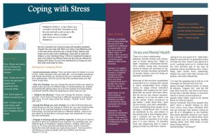 Coping with Stress Newsletter by ilovekakashi28