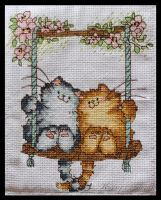 Cats on Swing by KezzaLN