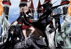 Soul Eater Maka, Kid And Black Star by HikariNoGiri