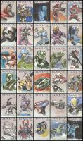 Halo Topps Cards by lazesummerstone