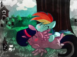 Twidash chibi love (old pic edit) by BE9CM9