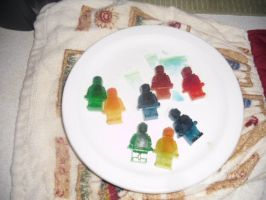 Food Colored Ice LEGO Minifigures by Eli-J-Brony
