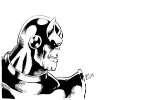 Thanos inks by Shadowrenderer
