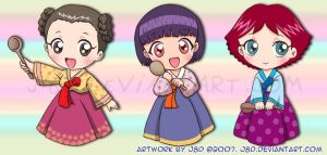 Chibi Korean Cooks by J8d