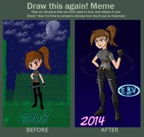 Before and After Combat-Rally by EvilVixen05