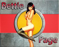Bettie Page Wallpaper by CliffEngland