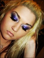 purple and silver by MakeupbyRMF