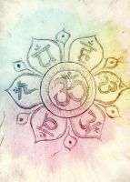 Om and chakras by Flincus