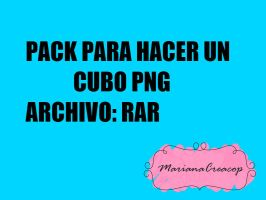 Pack Para Hacer Un Cubo PNG by MARIANACREAACOP