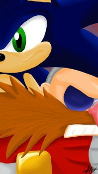 Sonic and Eggman - Tension by ghostanjo