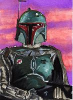 Boba Fett Sketch Card by Jimbeanus