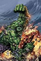 hulk vs iron man by kingmuscle