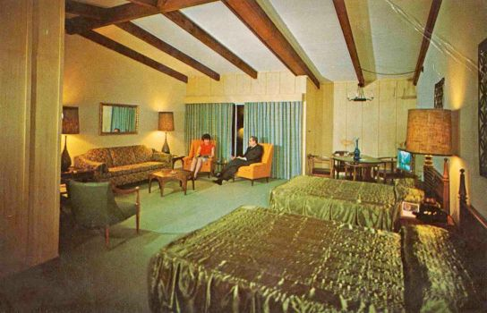 Vintage Texas - A TEXAS SIZE Motel Room by Yesterdays-Paper