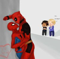 Spiderman x Deadpool by DevilishxUke