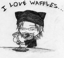 I Love Waffles... by TehMomo