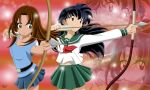 Kagome and Corie - Archery Duo by tachiban18