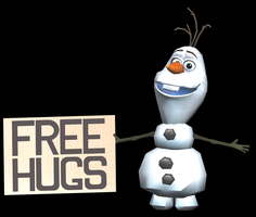 Free Hugs Olaf Pre-Papercraft Model by Sabi996