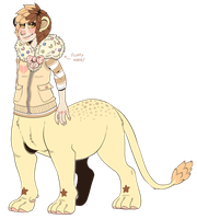 {COMM} lion kid. by kaijuparty