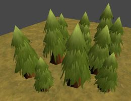 Low Poly Hand Painted Tree - second attempt by Madgharr