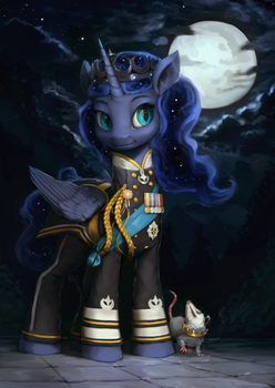 Princess Luna Military Portrait by AssasinMonkey