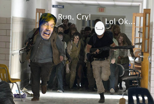 The Walking PewDieCry by CheddaJack
