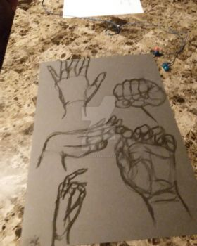 Hand Study Batch 2 WIP by awesomestarz