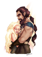 khaleesi and khal drogo by Benedicte-Ammar