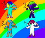 Fursona Adoptables 1 (look at desc 4 point prices) by megaprime1234