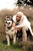 Daenerys and Direwolf by Tarah-Rex