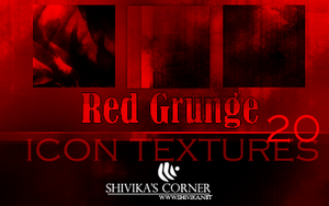 Red Grunge Icon Textures by spiritcoda