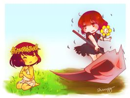 Reapertale - Frisk and Chara by Shuwappy