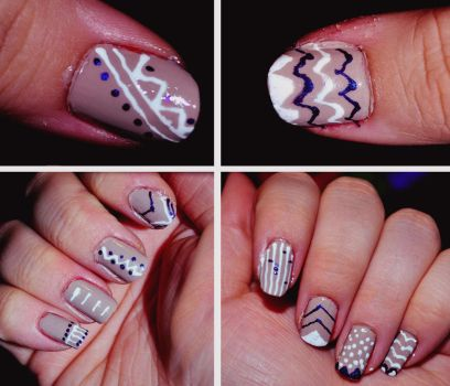 Line Nail Art by sailorjessi