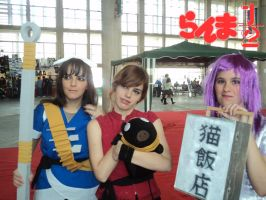 Two pretty girl and Ranma by ZirtAerith