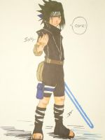 Sasuke Jedi Knight by Bean056