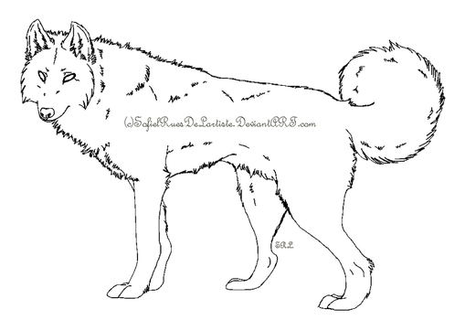 Wolf Template 1 by SofielRuesDeLartiste